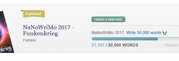 NaNoWriMo 2017 – Mein Fazit